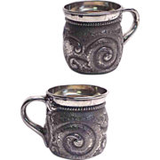 1880's Wilcox Quadruple Plate Victorian Child's Christening Cup
