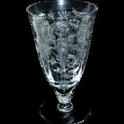 """Fostoria Chintz Etched Crystal Glass 6"""" / 13 oz Iced Tea Stem"""