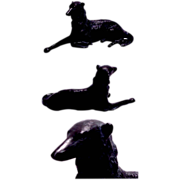 1920's Realistically Detailed Borzoi Wolfhound Dog Figurine