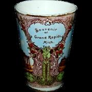 Colorful Souvenir Tumbler from Grand Rapids Michigan