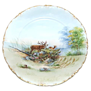 """9 7/8"""" Transfer w/ Hand Painting Rosenthal Woods Scenic Plate"""