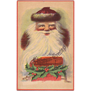 1900's Christmas Postcard Santa with his 2 front teeth