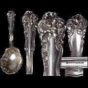 1904 Berwick Silverplate Berry Spoon by Wm Rogers Art Nouveau Pattern