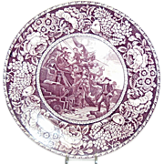 "Purple & White Historical Plate ""Commodore Paul Jones"""