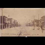 "RPPC  "" Street Scene Biwabik Minn Circa 1909 """