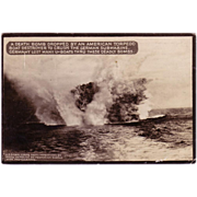 "SOLD RPPC  "" American WWI Death Bomb "" Postcard."