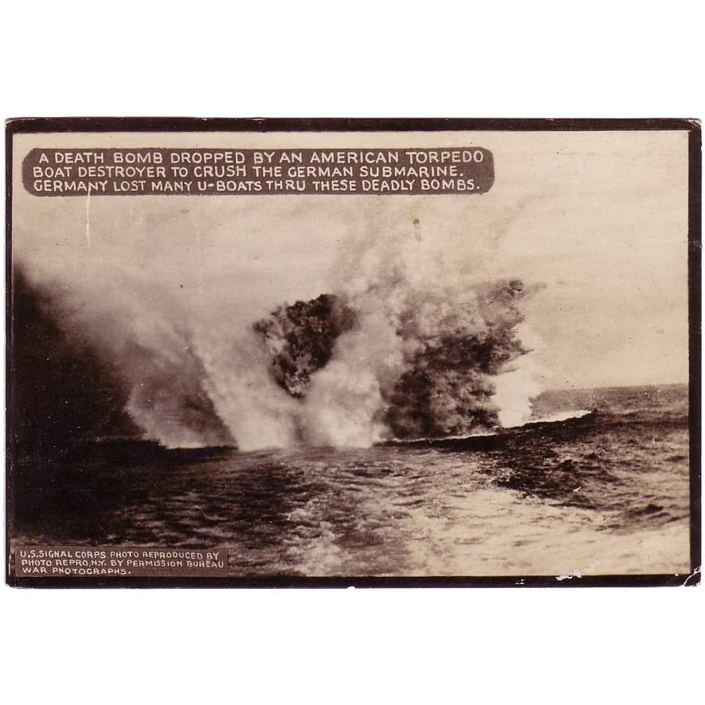 "RPPC  "" American WWI Death Bomb "" Postcard."