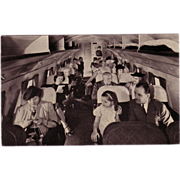 "Postcard ""  Interior of United Airlines Main liner Aircraft"""