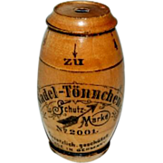 Antique 1890's Wooden Barrel Shaped Needle Case