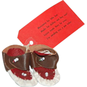 Souvenir from Lake Tahoe Pair of Indian Moccasins for a Doll