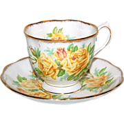 "Yellow Roses Royal Albert "" Tea Rose "" Cup & Saucer"