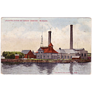 "Postcard ""Life Saving Station and Garbage Crematory, Milwaukee"""