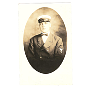 "SOLD RPPC of a Sailor in Uniform "" USS Philip "" dated 1919"
