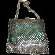 1920's German Silver Mesh Evening Bag