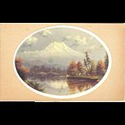 "Postcard "" Eliza Barchus"" Listed Portland Oregon Artist of ""Mount Hood """