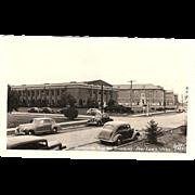 "RPPC Photograph Postcard "" Recreation Building & Barracks Fort Lewis Wash."""