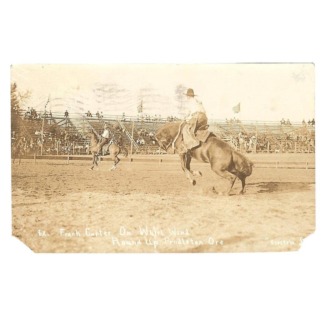 "A Wonderful RPPC Postcard of the ""1914 Pendleton Roundup"""