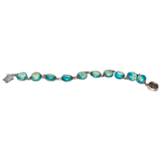 Chinese Silver Mother of Pearl Bracelet