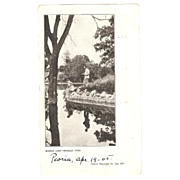 "Private Mailing Card  ""Mirror Lake - Bradley Park"" 1905"