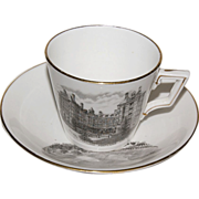 "Early 1890's Souvenir Cup & Saucer of "" Portland Oregon """