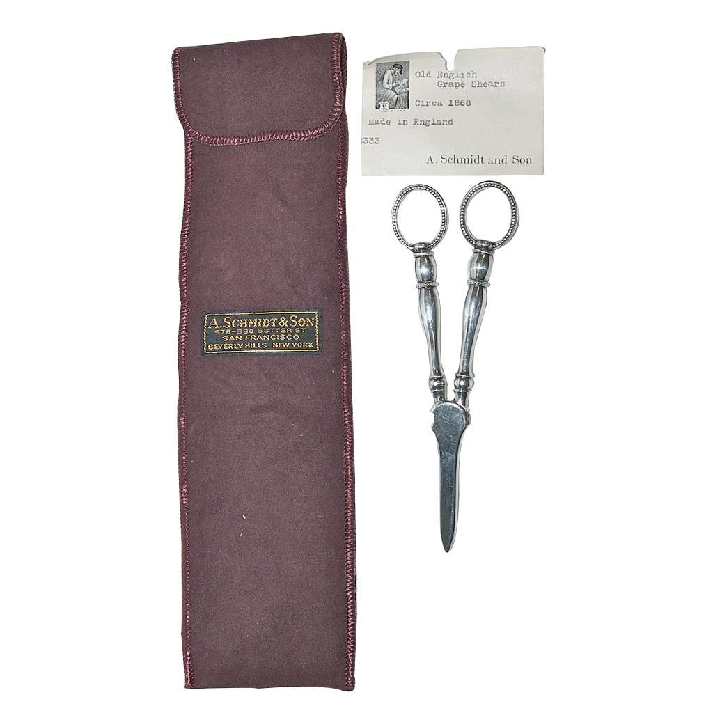 Circa 1868 English Antique Grape Shears