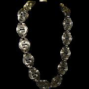 Stylish Artist Designed Sterling & 14K Gold Choker Necklace