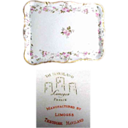 Haviland Dresser Tray with Delicate Pale Pink Floral Petite Roses