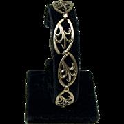 Sterling & 14K Gold Link Bracelet