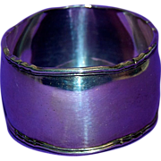Large Heavy Silver Napkin Ring