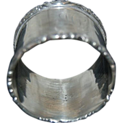Large Heavy Sterling Wood & Hughes Napkin Ring