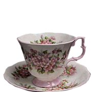 Royal Albert Blossom Time Series Cup and Saucer