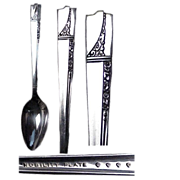 (6) Caprice Pattern 1937 Nobility Plate Demitasse Spoons