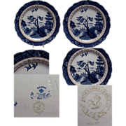 "Booths Blue & White Willow Ware 8 1/4"" Plate"