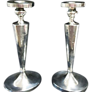 """1920's Sterling Silver 11 3/4""""  Tall Elegant & Wonderful Candlesticks """" NOT WEIGHTED"""