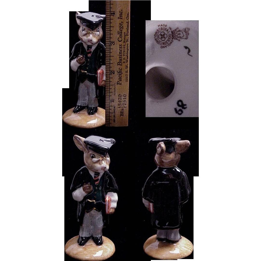 "Royal Doulton discontinued Bunnykins Rabbit Figurine "" Graduate """