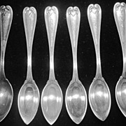 Set of Six Tiffany Citrus Grapefruit Spoons Sterling Silver
