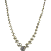 Vintage Swarovski Crystals & Faux Pearls Necklace