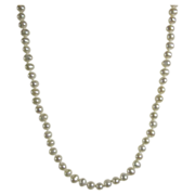 Vintage Necklace Cultured White Pearls & 14k Yellow Gold