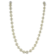 Vintage White Cultured Pearls & 14k Yellow Gold Necklace