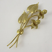 Vintage Gold Filled Flower Pin Brooch by Danecraft