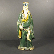 Rare Early 1900s Chinese Mudman Clay Figure 10 inches Tall