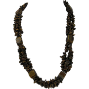 SALE Vintage Three-Stranded Tiger Eye Necklace