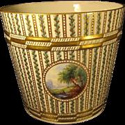 SALE Antique German Porcelain Large Cachepot by Carl Thieme Dresden Germany 1900s