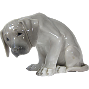 "Large Royal Copenhagen Porcelain Figurine Labrador Pup ""Bob"" # 318 Design by Christian Thomsen"
