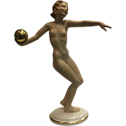 SALE Hutschenreuther Porcelain Figurine Nude Sun Child Statue Germany