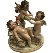 SALE Antique Porcelain Cherub Figurine Grouping Dresden Germany