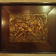 SALE Dancers - Copper Relief Sculpture - New York Artist Rhea Zinman
