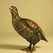 Austrian Cold Painted Bronze Figure of a Bird
