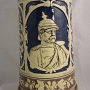Antique Mug Stein Baltimore Brewery Bismarck face Early XX 1910-1920s