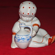 Hungarian Zsolnay PECS Seated Girl with Jug Figurine